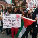 """Free Free Palestine chants are echoing the streets of #Chicago"" #FreePalestine  http://t.co/qhS64qFiy9"