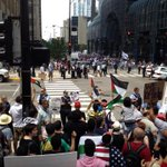 RT @NeilSteinberg: Dueling protests: Palestinian rally shouts across Canal Street at pro Israel rally in Chicago Tuesday. http://t.co/sABeCO8Ia0
