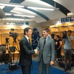 RT @MapleLeafs: #TMLtalk photo: @brendanshanahan and @kyledubas #Leafs #NHL http://t.co/vkH7FRJbYD