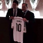 RT @TransferLatests: James Rodriguez poses with his Real Madrid jersey. Number 10. http://t.co/hVJbeXyRqm