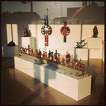 Steve Hursts War Toys in the evening sun @PangolinLondon. Beautiful. #sculpture #gallery #london http://t.co/oSNXa7Ai5B