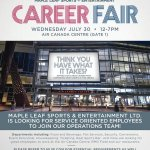 RT @TorontoMarlies: Looking for a service oriented position at MLSE? Attend the MLSE Career Fair on July 30 at @AirCanadaCentre! #TMLtalk http://t.co/P8RF7iMj4g