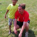PHOTO: @robbie9fowler at the @lfcfoundation event at Perkins School for the blind in Boston #lfctour #lfc http://t.co/lSnP3Gr84m