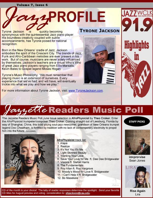 *salutes* #Jazzette July #JazzProfile #TyroneJackson #CD of the Month @TheoCroker #StaffPicks @sjonesjazz @Miss_LIRA http://t.co/6NOtxnKXv3