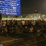 Photos: Now in #telaviv hundreds of israeli artists gather to protest against attack on #gaza #GazaUnderAttack http://t.co/k6krr7rZcV