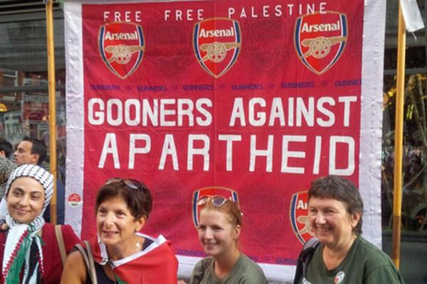 Arsenal fans join pro-Palestine protest in west London as Middle East conflict intensifies http://t.co/MC2ngiW9t5 http://t.co/AFebr9blbT