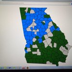 #GOP divided Georgia. Green = Kingston, Blue = Perdue #wsbtv #gapol http://t.co/BRMfWp3Nhx