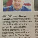 Get on board with the #Geelong Small Business Festival http://t.co/QIuIRwFyLJ @DarrynLyons http://t.co/wc0yCmtd2m #MPMC