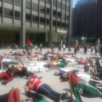 Another die in on the progress at the Tribune Plaza #Chicago #FreePalestine  #GAZA  http://t.co/OWItImTVYn