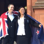 RT @nzolympics: Chef de Mission Rob Waddell with NZL opening ceremony flag bearer @ValerieAdams84 #makingusproud http://t.co/wT9vTjq49y