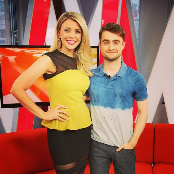 "Such a pleasure to have #DanielRadcliffe on set today @etalkCTV! Go see his new movie ""The F Word""! http://t.co/m5yda1ltyR"