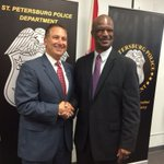 St. Pete Mayor Rick Kriseman welcomes Tony Holloway as the new Chief of Police. Watch more at 6 @abcactionnews http://t.co/7VA8RHXaEO