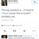 RT @JPSargeant78: Just for posterity - David Ward MP fancies himself as a terrorist rather than peacemaker. http://t.co/CAbZsb4DyN