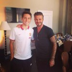 Hoy nos ha visitado una leyenda #Beckham // David Beckham came to visit us today http://t.co/P6XGYFffwW