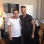 Juan Mata with David Beckham https://t.co/MXIlOd630O