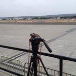 Our @KIRO7Seattle gear in position ready for #WaObama visit. ETA 3:15. Looks like a cloudy arrival at Boeing Field. http://t.co/Bkyo1BaX5S