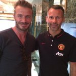 RT @everything_utd: David Beckham with LVG, Giggs, David de Gea & Juan Mata #Legend http://t.co/5i3RORUs7d