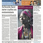 RT @guardian: Todays front page: Schools face new curbs on extremism http://t.co/RHrqfLQU7G http://t.co/8uXcySTjC5