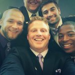 Big 12 Media Day Selfie.. Show these boys some love #kstateFB http://t.co/W2xHbJw5MM