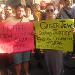 Proud to see many Jews saying #NotInOurName #PalestineUnderAttack at protest in #CopleySq #Boston4Gaza http://t.co/eAg0I6Nrbw