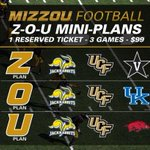 ICYMI:@mizzoufootball Non-con single gm and mini-plans (w/select SEC gms) on sale this wk. http://t.co/j7WtXGiUaL http://t.co/Zp4eOR9m1X