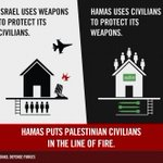 RT @IDFSpokesperson: We use weapons to protect Israeli civilians. Hamas uses Gaza's civilians to protect its weapons. http://t.co/mRmtk8Jxer