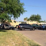RT @BrettKGBT: I have never seen anything like this before. 3 armed vehicles! #lajoya @kgbt http://t.co/FAvCVkKYaa