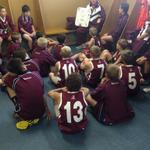 The @AFLQSchoolFooty U12s pre-game against ACT at Henson Park. Big chance to rebound after the loss to Victoria! http://t.co/iCaMfjtgAZ