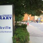 "#Toronto n. from Latin for ""land of libraries."" e.g. this library is 100m from the red brick library in the distance. http://t.co/QIWnzfSpyp"