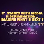 RT @iam_cristopher: it starts with MEDIA DISCRIMINATION. Imagine whats next? #NoToSofitelDay10 #BoycottSofitelPHDay10 http://t.co/gh3hpirKK4