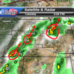 RT @TravisKTVZ: Three strong T-storm cells in C.O. storms moving NE. A busy night ahead. #OrWx #KTVZ http://t.co/upewg1qJXl