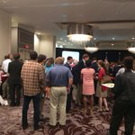 Its early but #Perdue crowd erupts as results show him in the lead 1st time tonight #WSBTV #gapol #gagop http://t.co/TmBsepniXR