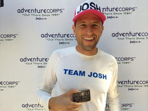 This is what a #Badwater135 finisher looks like. Way to go @spectorjosh! So proud of you buddy. #goJoshgo http://t.co/ldzxgnnSEW