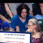 Jack White at the Cubs game last night looked like he had a bad case of icky thump https://t.co/reLrgUWToX