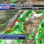 Severe T-Storm Warning till 6pm for E Douglas Cnty. w/ it is 60mph wind & quarter size hail. Moving NE @ 35mph. #KTVZ http://t.co/qNWtqnEFvI
