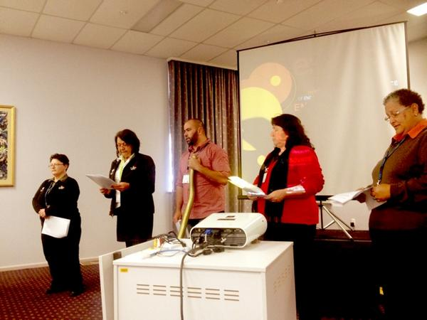 #UoN's Wollotuka Institute staff - awesome group storytelling #engageaus14 #highered http://t.co/dgsd1qvET9
