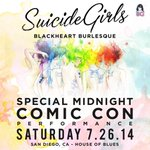 Anyone going to this @SuicideGirls show @Comic_Con on Saturday? Its on my list. #SDCC2014 #SDCC http://t.co/pzKvxyxKJO