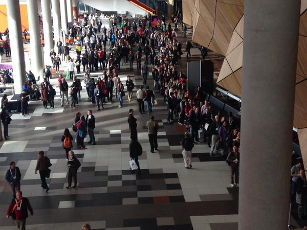 The 5000 seat main auditorium is almost full at AIDS2014 and still huge queues to hear Bill Clinton