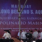 Pres Aquino arrives at Mabini Shrine for the commemoration of the 150th birth anniv of Mabini http://t.co/FatA3FXblC | @maricarcinco