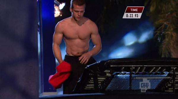 My favorite part of last night's Ninja Warrior so far is @ChrisWilczewski taking his shirt off. http://t.co/XRpJB84O8q