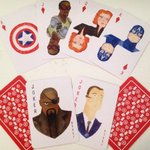 RT @daisymayedwards: Limited edition Avengers playing cards (illustrated by me) available for sale THIS WEEK at #SDCC Booth #1533. ???????????????? http://t.co/os5HsGfdvm