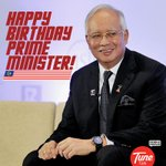 RT @TuneTalk: A little smile, a word of cheer, a lot of love from everyone near. Happy Birthday @NajibRazak ! http://t.co/R1JcJS1VFH
