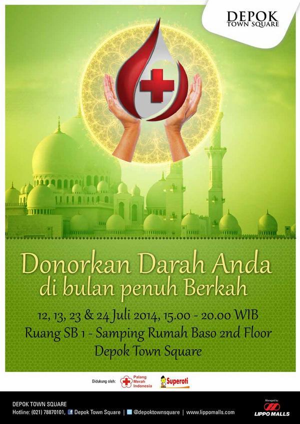 Ngabuburit Sambil Donor Darah Yuk.. 23&24 Juli pk.15-20 di Ruang SB 1 (Samping Rumah Baso) Lt. 2 @palangmerah http://t.co/L19FSTPdK5