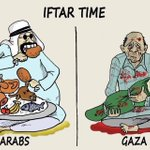 While Arabs have handful of food GAZA has handful of dead children laying in their arms#Iftaar time #PrayForGaza http://t.co/i1AxFqRhgs