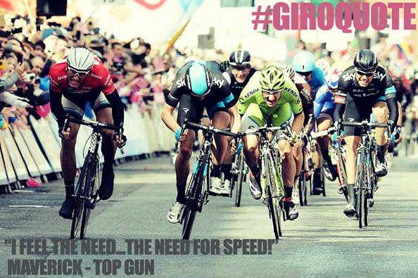 """I feel the need... the need of speed!""  Maverick - Top Gun  #giroquote http://t.co/ZbhwtZnMKK"
