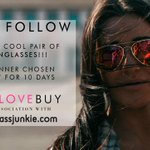 RT & FOLLOW! COOL 10 DAY #GIVEAWAY! #WIN @Sunglassjunkies SUNNIES.#WELOVEYOU ENTER HERE: http://t.co/wQBq30pS8S http://t.co/bdX7S0zolQ