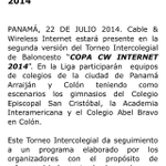RT @AlvaroAlvaradoC: 2do. Torneo Intercolegial de Baloncesto Copa CW Internet - Colegio Episcopal San Cristóbal - jueves 24- 2:30 pm http://t.co/soaPUuISOU