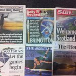 RT @janetteharkess: Big day. Love the front pages. @Glasgow2014 #bringiton #scotland #glasgow #globalstage http://t.co/GHLnEjfIEA