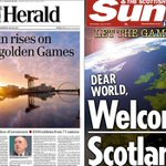 Scotlands newspapers welcome #Glasgow2014 in style http://t.co/ZaXJe4tHQW http://t.co/jyY06ovcYt
