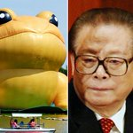 China censors story about inflatable toad after people compare it to ex-leader Jiang Zemin http://t.co/Ze76R8umEi http://t.co/uXmGnR5YY4